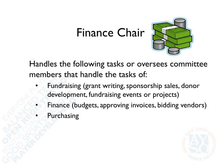 Finance Chair