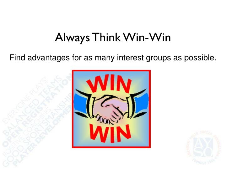 Always Think Win-Win