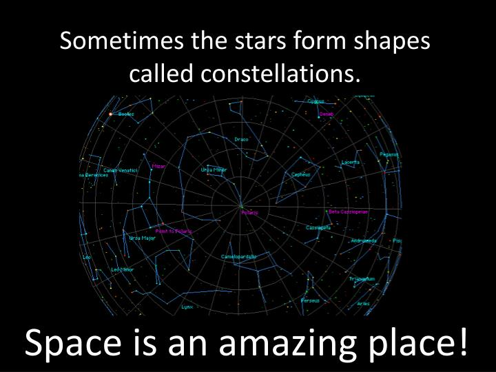 Sometimes the stars form shapes