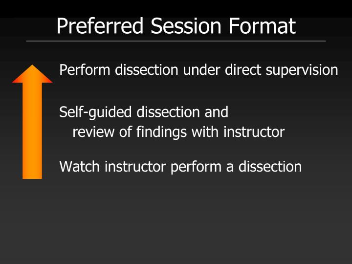 Preferred Session Format