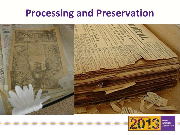 Processing and Preservation