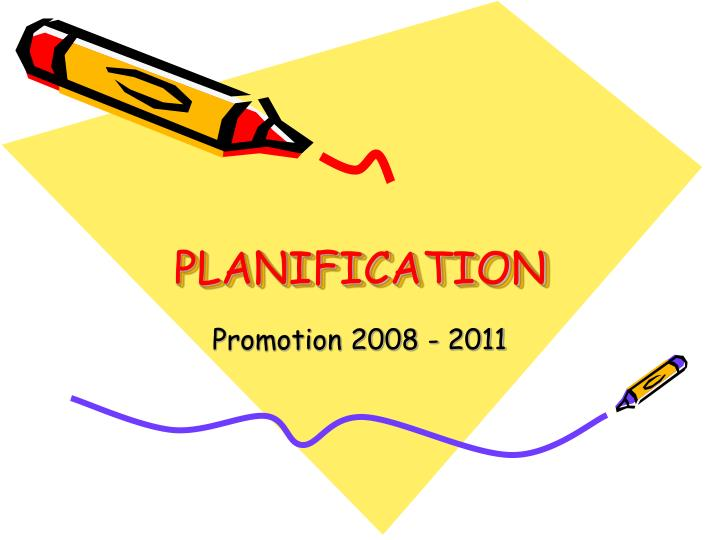 planification n.