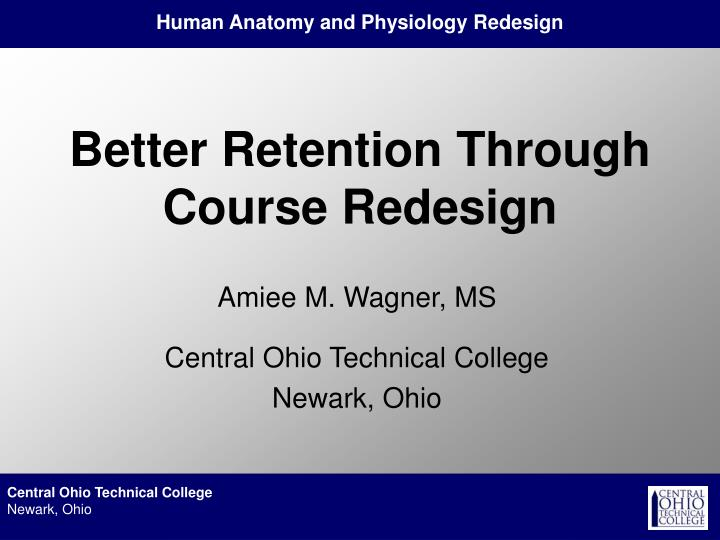 better retention through course redesign n.