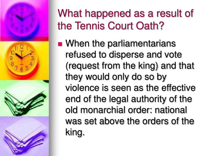 What happened as a result of the Tennis Court Oath?