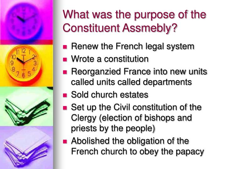 What was the purpose of the Constituent Assmebly?