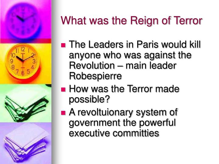 What was the Reign of Terror