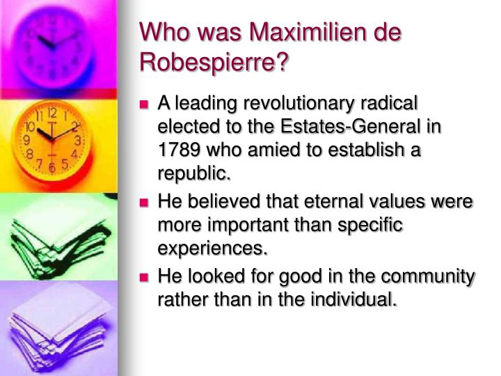 Who was Maximilien de Robespierre?