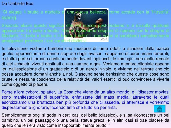 Da Umberto Eco