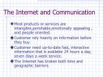 the internet and communication