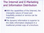 the internet and e marketing and information distribution1