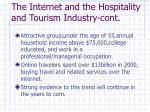 the internet and the hospitality and tourism industry cont
