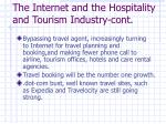 the internet and the hospitality and tourism industry cont1
