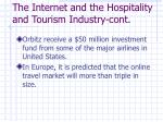 the internet and the hospitality and tourism industry cont2