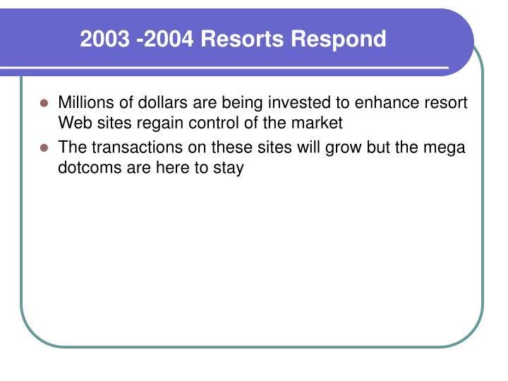 2003 -2004 Resorts Respond