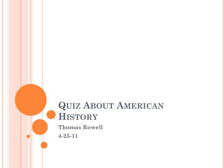 quiz about american history n.