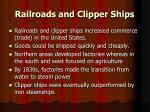 railroads and clipper ships