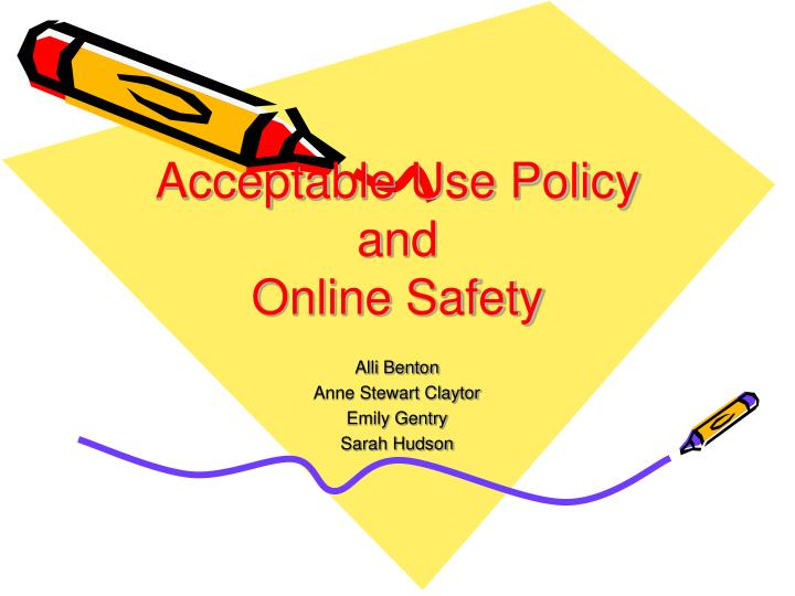 acceptable use policy and online safety n.