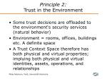 principle 2 trust in the environment