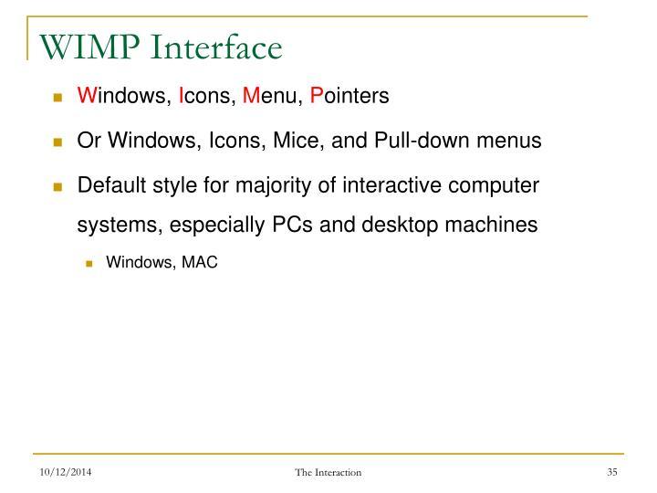 WIMP Interface