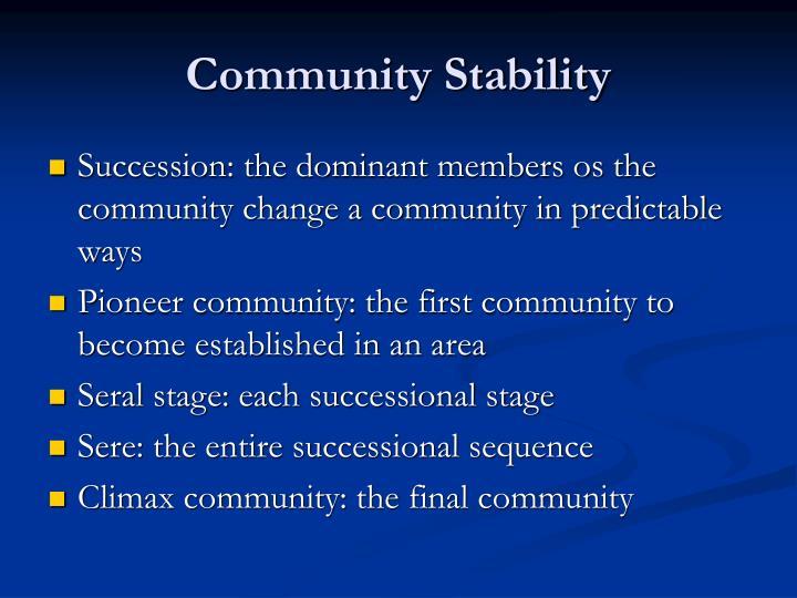 Community Stability