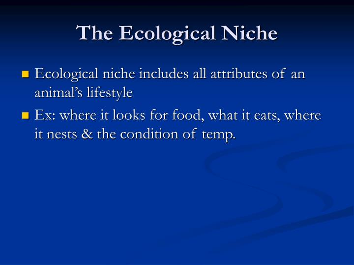 The Ecological Niche