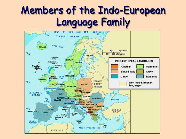 Members of the Indo-European Language Family
