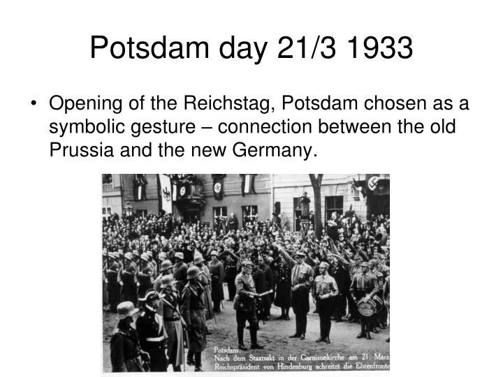 Potsdam day 21/3 1933