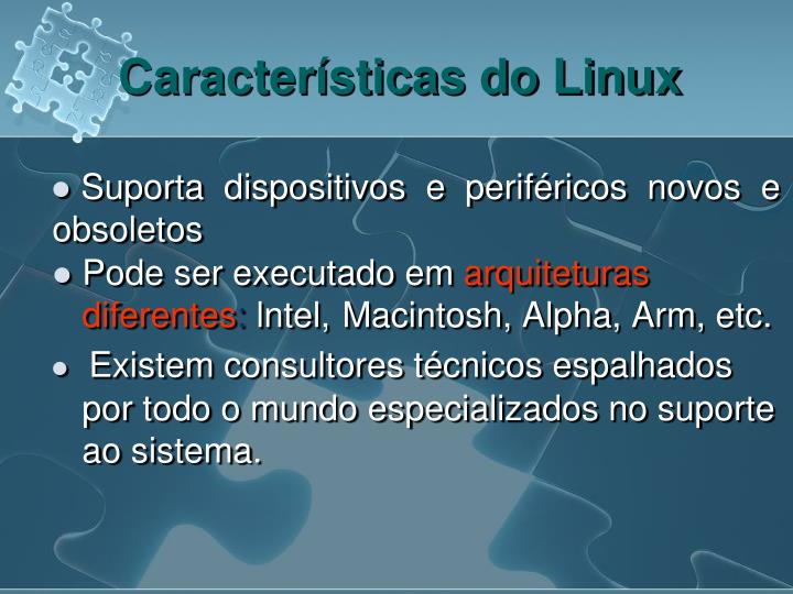 Características do Linux