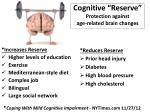 cognitive reserve protection against age related brain changes