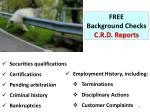 free background checks c r d reports