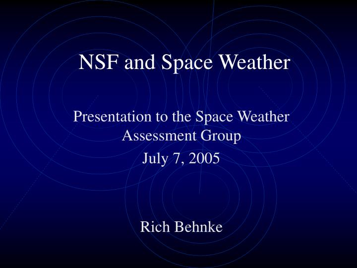 nsf and space weather n.