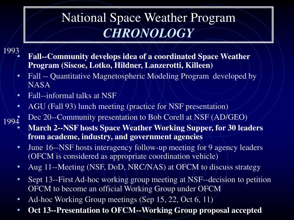 PPT - NSF and Space Weather PowerPoint Presentation - ID:5458953