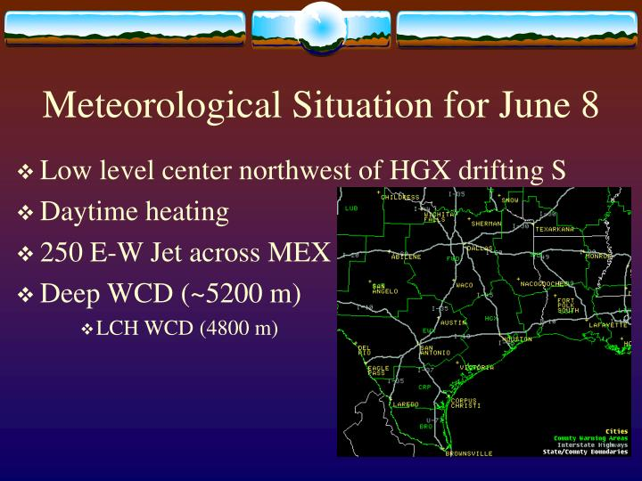 Meteorological situation for june 8