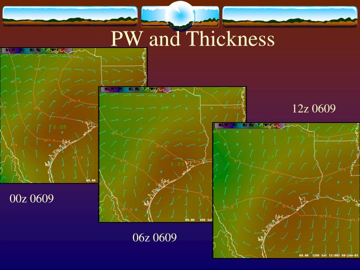 PW and Thickness