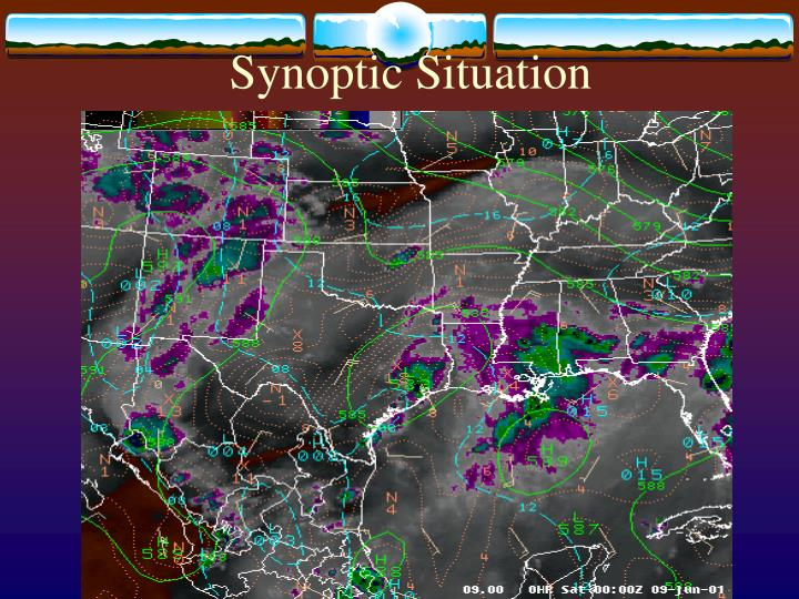Synoptic situation