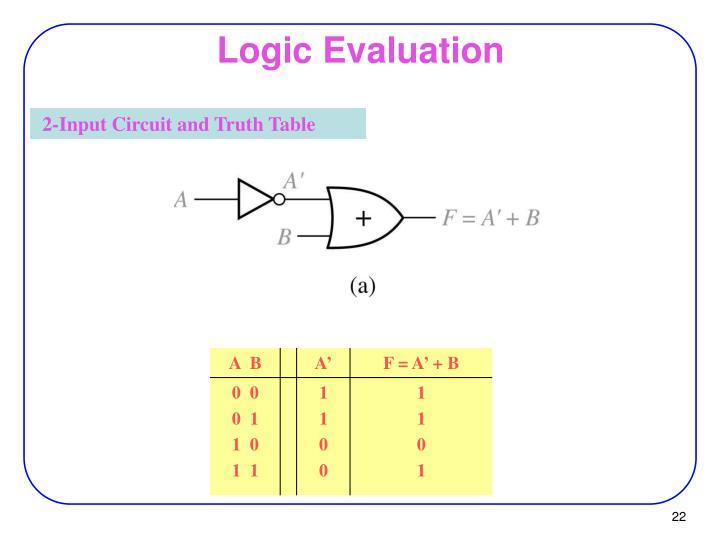 Logic Evaluation