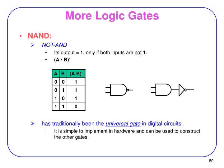 More Logic Gates