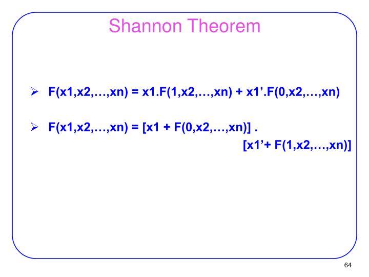 Shannon Theorem