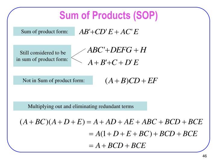 Sum of Products (SOP)