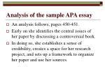 analysis of the sample apa essay