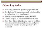 other key tasks