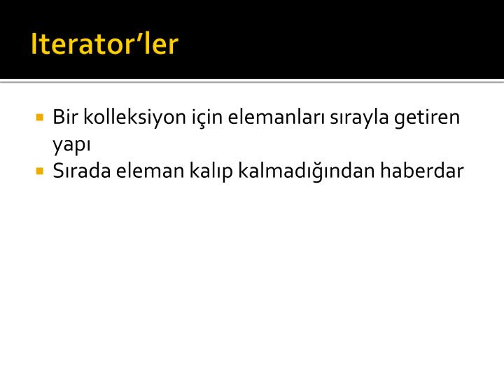 Iterator'ler