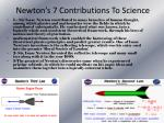 newton s 7 contributions to science