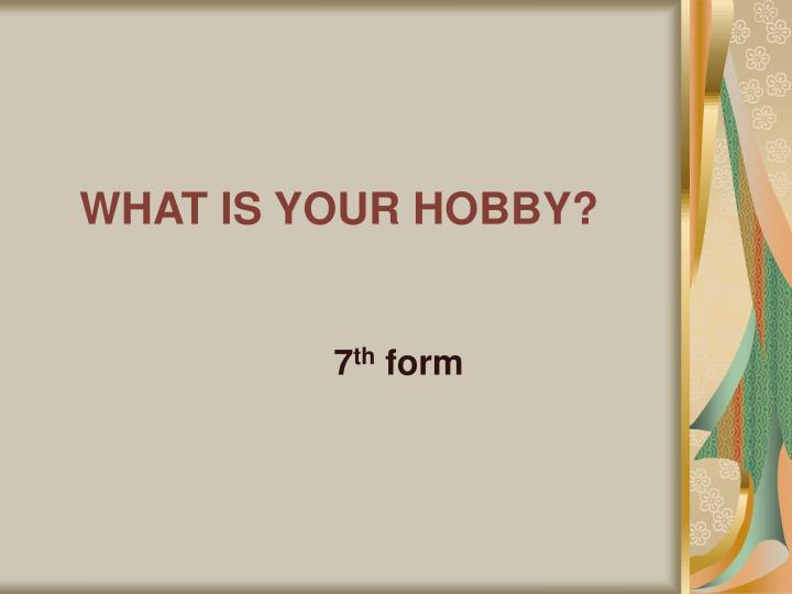 what is your hobby n.