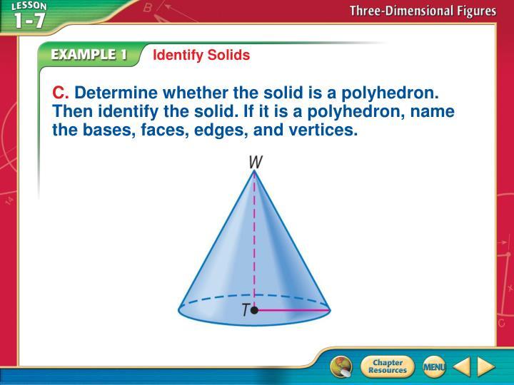 Identify Solids