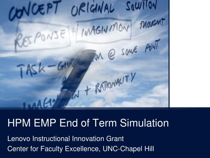 hpm emp end of term simulation n.