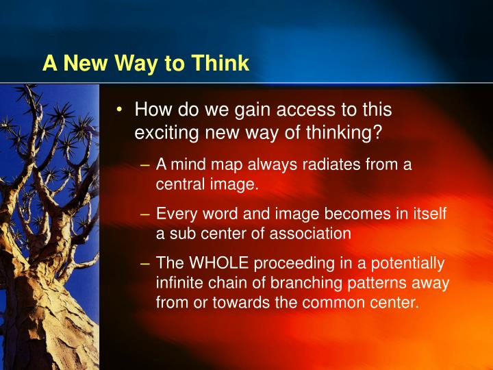A New Way to Think