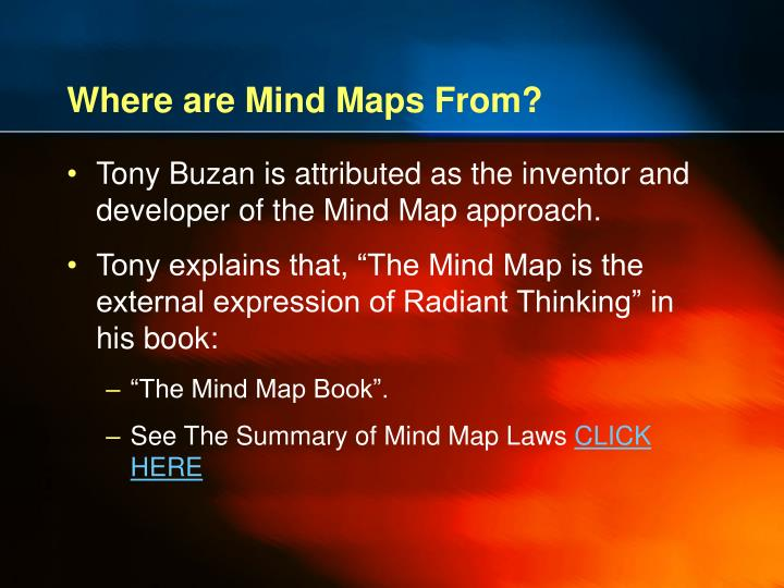 Where are Mind Maps From?