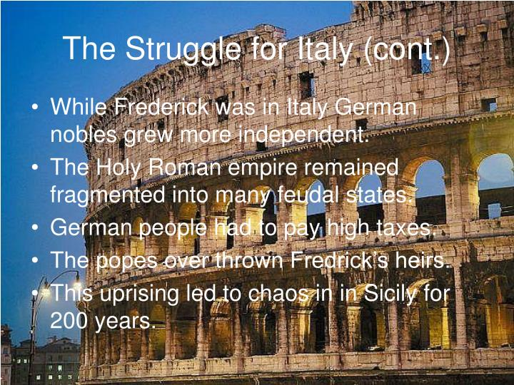 The Struggle for Italy (cont.)