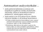 automaattiset analyysity kalut1